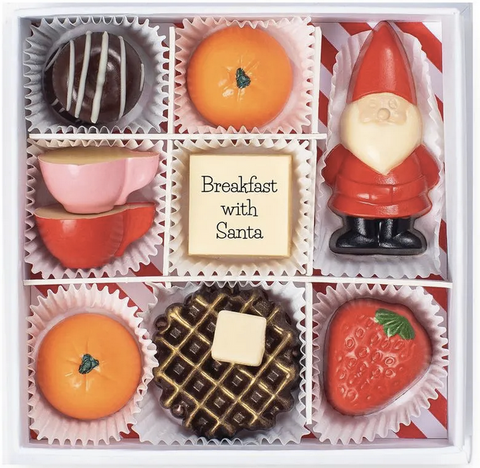 Maggie Louise Confections Breakfast with Santa chocolates holiday gift