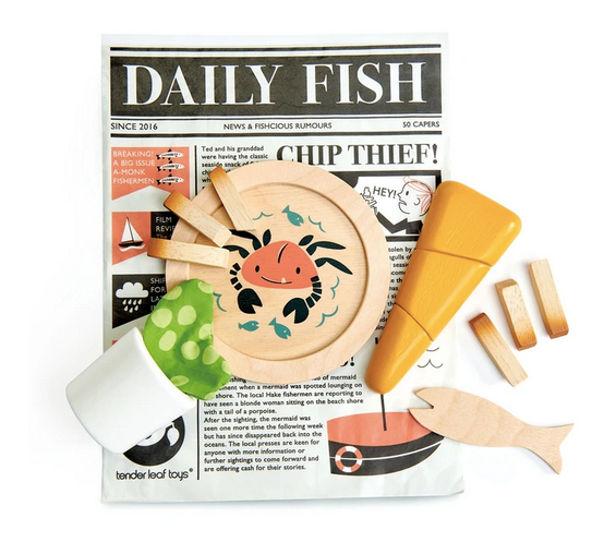 Tender Leaf Fish and Chips Supper Wooden Toy