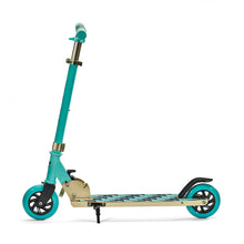 "Load image into Gallery viewer, SVOLTA ""Legend"" 2-Wheel Kick Scooter - Aqua & Gold"