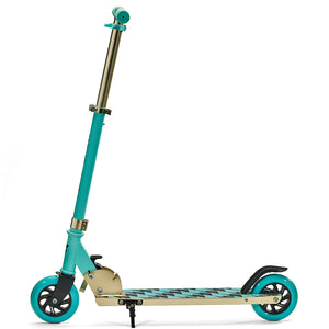 "SVOLTA ""Legend"" 2-Wheel Kick Scooter - Aqua & Gold"
