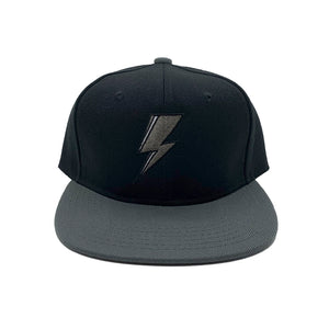 SVOLTA Black & Grey Lightning Bolt Kids Snapback Hat