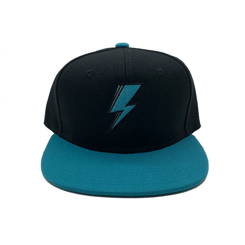 SVOLTA Black & Teal Lightning Bolt Kids Snapback Hat