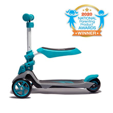 "Load image into Gallery viewer, SVOLTA ""Ace"" 2-in-1 Sit and Stand Converible Scooter - Teal"