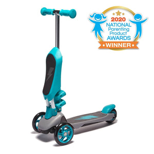 "SVOLTA ""Ace"" 2-in-1 Sit and Stand Converible Scooter - Teal"
