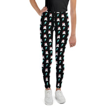 Load image into Gallery viewer, SVOLTA Kids / Youth Black Leggings - Bunnies & Bolts, 8-20