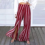 High Waist Ethnic Print Pants