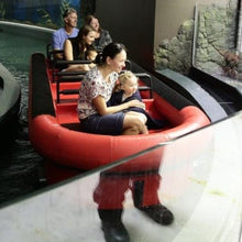 Load image into Gallery viewer, Families experiencing the penguin boat ride at Sydney aquarium