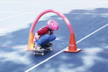 Load image into Gallery viewer, Caperly-childrens-activities-child-skateboarding_under_pipe