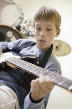 Load image into Gallery viewer, Caperly-childrens-activities-music-lessons-boy-playing-guitar