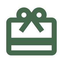 Load image into Gallery viewer, Green icon of a gift card with a white background for Caperly