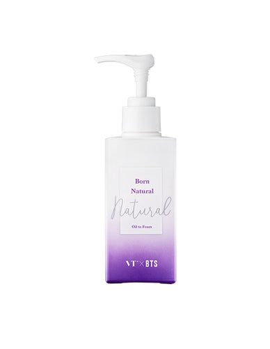 VT X BTS - BORN NATURAL: OIL TO FOAM CLEANSER