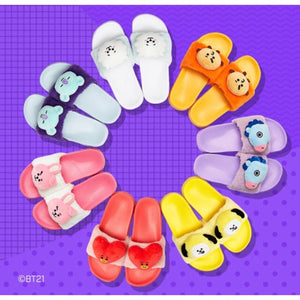 BTS - BT21 X LINE FRIENDS Face Doll Slipper