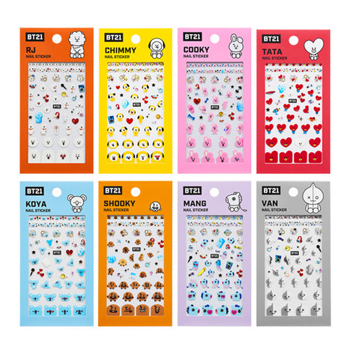 OLIVE YOUNG X BT21 - NAIL STICKER