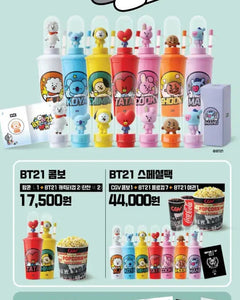 BTS - BT21 X CGV Tumbler SET + Passport case