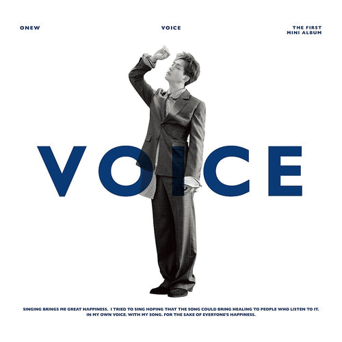 SHINee ONEW - VOICE + Poster