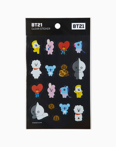 BTS - BT21 CLEAR STICKER