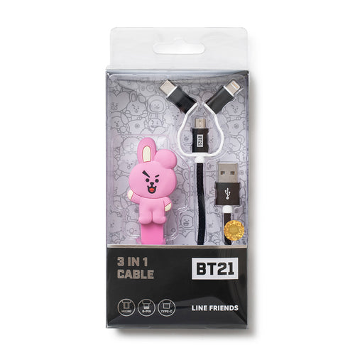 BTS - BT21 X LINE FRIENDS Silicone Multi Cable & Winder Set (3 types)