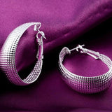 New Fashion Women Earring Silver Dangle Ellipse