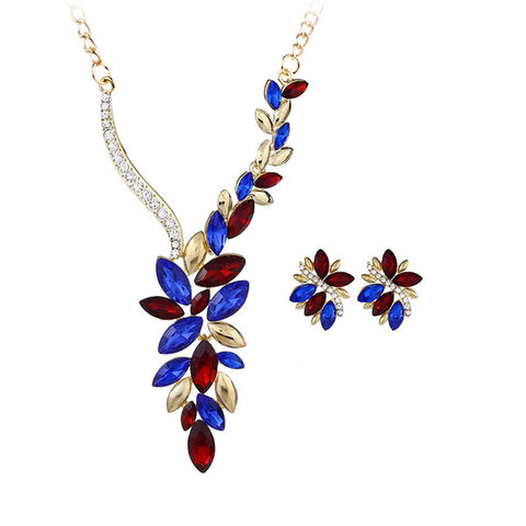 Multicolor Jewel Leaf Pendant