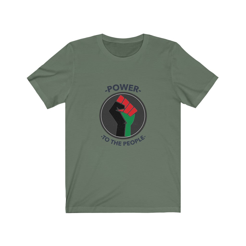 Power To The People Unisex Jersey Short Sleeve Tee