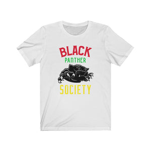 Black Panther Society Unisex Jersey Short Sleeve Tee