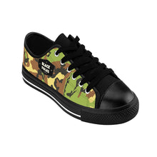 Load image into Gallery viewer, Unisex Black Folks Camo Sneakers