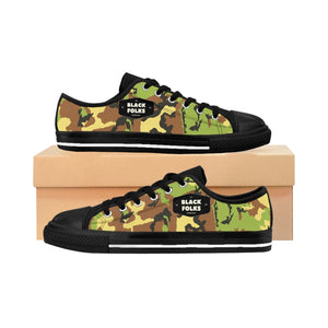 Unisex Black Folks Camo Sneakers