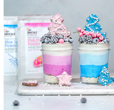 Blue & Pink Coconut Pudding
