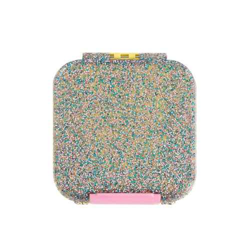 2 COMPARTMENT BENTO LUNCH BOX GLITTER