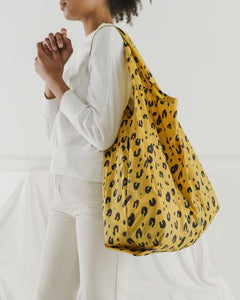 BIG BAGGU REUSABLE SHOPPING BAG LEOPARD PRINT