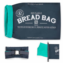 Load image into Gallery viewer, ONYA REUSABLE BREAD BAG CHARCOAL