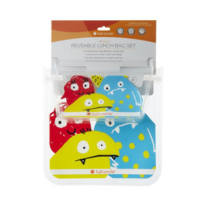 FULL CIRCLE REUSABLE LUNCH BAGS MONSTER