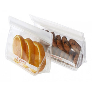 FULL CIRCLE ZIPTUCK REUSABLE SNACK BAGS - CLEAR