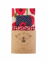 Load image into Gallery viewer, SET OF 3 BEESWAX WRAPS