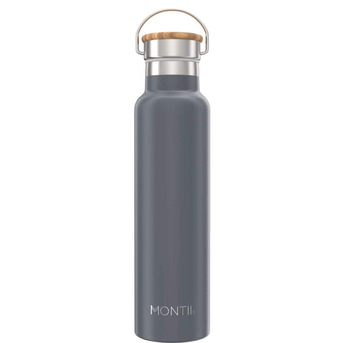 1 LITRE STAINLESS STEEL DRINK BOTTLE GREY