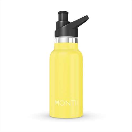 MINI MONTIICO STAINLESS STEEL DRINK BOTTLE YELLOW