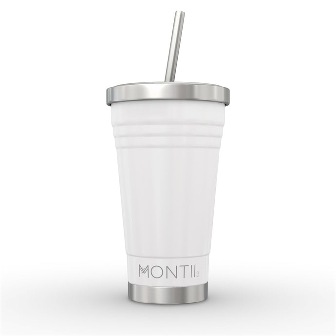 STAINLESS STEEL SMOOTHIE CUP WHITE