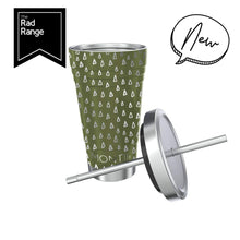 Load image into Gallery viewer, MONTIICO SMOOTHIE CUP - OLIVE GEO