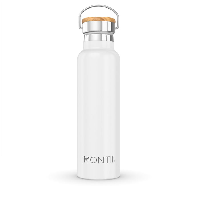 MONTIICO STAINLESS STEEL DRINK BOTTLE WHITE