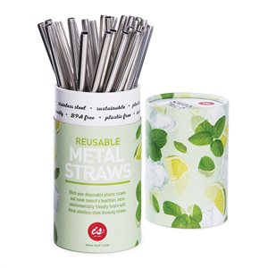 SINGLE STAINLESS STEEL SMOOTHIE STRAW