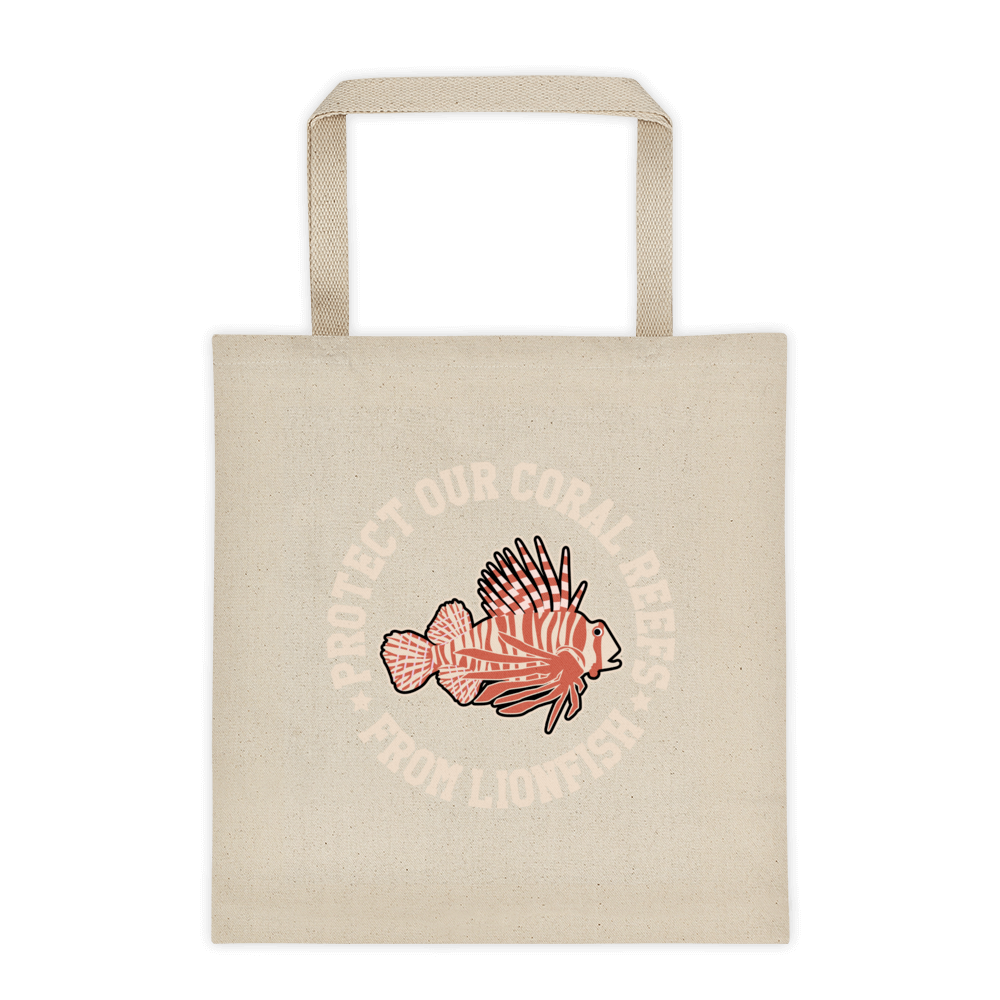 Protect Our Reefs From Lionfish Tote bag