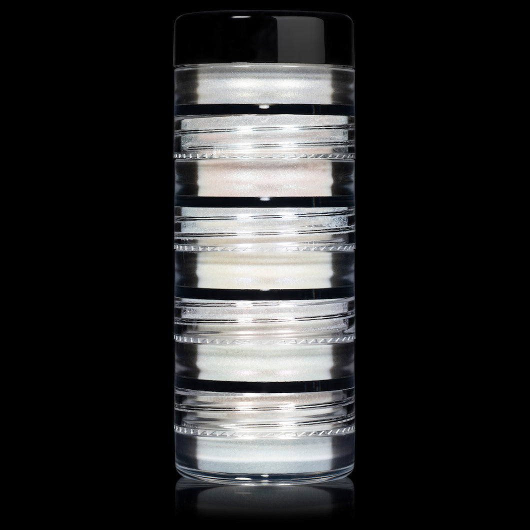 5 MYO Whiteout Stackable Iridescent Shimmer Eyeshadow Pigments