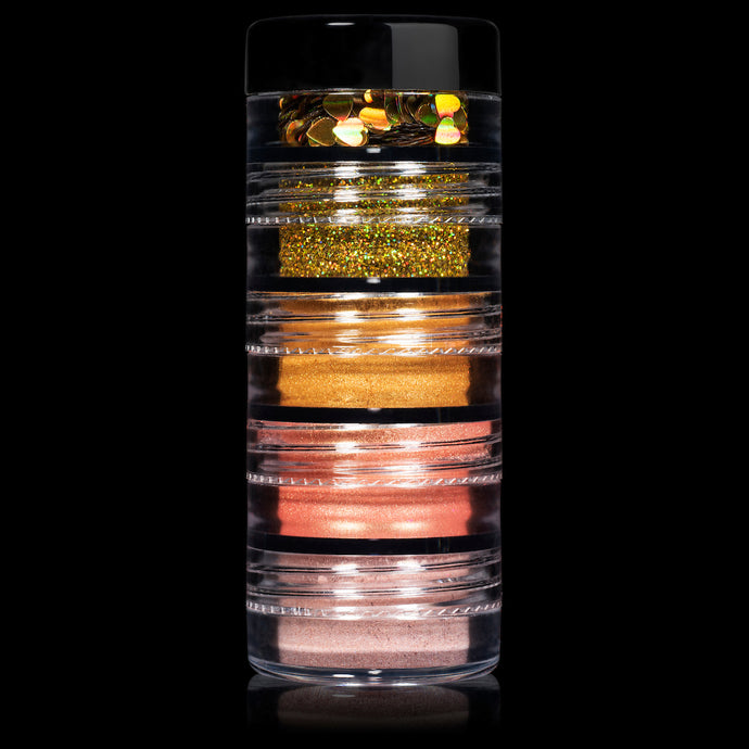 5 MYO Stackable Shimmer & Glitter Eyeshadow Pigments