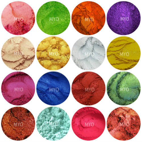 10 Piece Myo Loose Eyeshadow Pigment Duochrome, Color shifting, Shimmer, Matte, Ultra Bright's, Mixed Glam Sampler Collection Set F