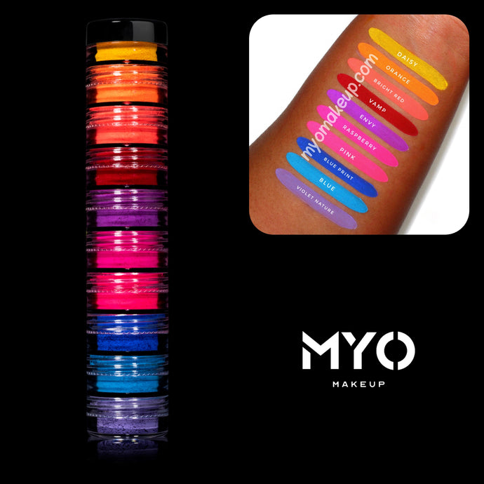 10 MYO Stackable All Ultra Bright Matte Eyeshadow Pigments