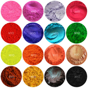 10 Piece Myo Loose Eyeshadow Pigment Duochrome, Color shifting, Shimmer, Matte, Ultra Bright's, Mixed Glam Sampler Collection Set B