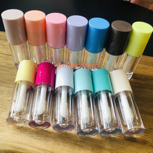5ML New Big Brush Doe Foot Empty Lip Gloss Wand Tubes Containers (QTY 10 TUBES)