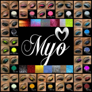10 Piece Myo Group Hug Sampler Set Mixed Glitter's & Eyeshadow Pigment's Color Collection