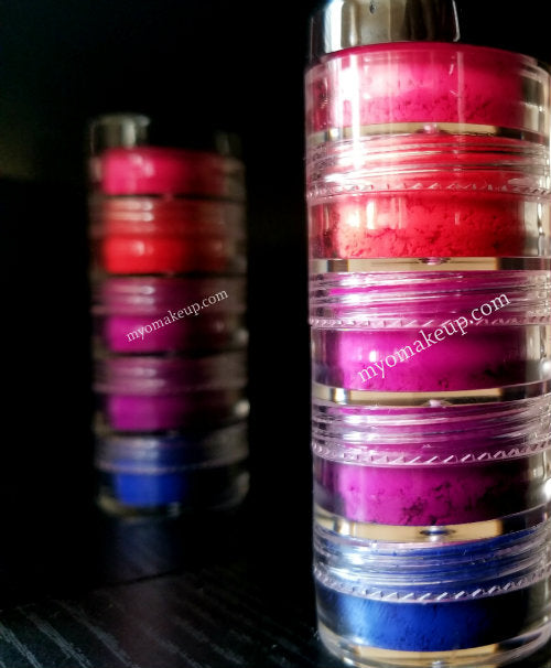 5 MYO Ultra Bright Matte Stack Eyeshadow Pigment Stackable Jar Set Mica Cosmetic Mineral Makeup.