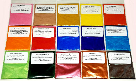 10 Piece Myo Prism Mixed Sampler #1 Eyeshadow Pigment Mica Set (In Baggies No Jars)